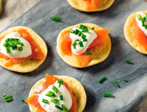 salmon blinis recipe